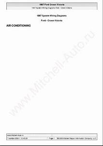 Ford Crown Victoria 1997 Wiring Diagrams Sch Service