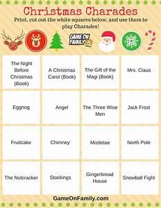 Christmas Charades Words - Christmas Decore