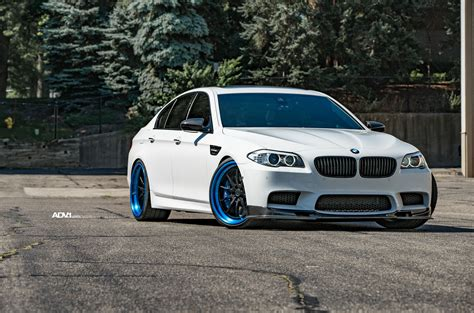 White Bmw Rims by Alpine White Bmw M5 With Flashy Adv 1 Wheels