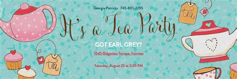 Tea Party Guide Evite