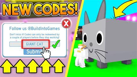 exclusive codes  pet simulator roblox