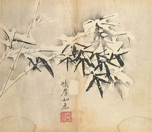 From the Harvard Art Museums' collections Bamboo in Snow  Illustration from the Ten Bamboo