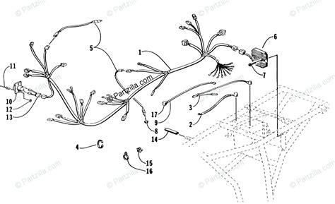 arctic cat atv 1998 oem parts diagram for wiring harness assembly partzilla com