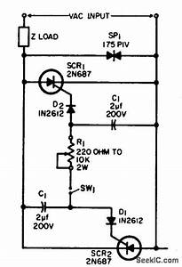 High Power Scr Static Switch - Control Circuit - Circuit Diagram