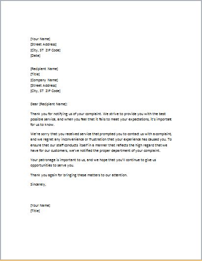 write apology letter  templates formal word