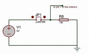 Schematic Of The Push Button Circuitry