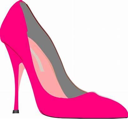 Heel Pink Heels Clip Clipart Stiletto Stilettos