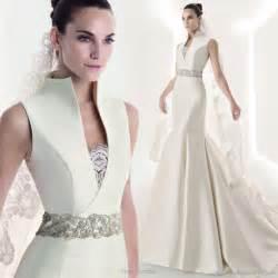 collared wedding dress franc sarabia 2010 wedding gown collection wedding inspirasi