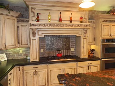 Remodeling Kitchen Ideas - tuscan style kitchen cabinet with white and wooden tone mykitcheninterior