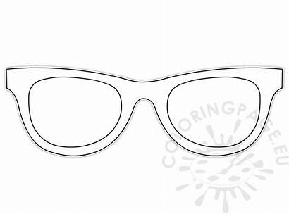Sunglasses Template Looking Coloring