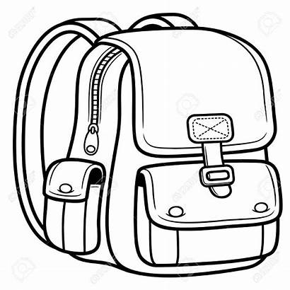Coloring Bag Pages Illustration Vector Bags Preschool