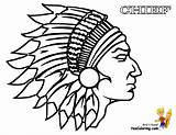 Coloring Indian Chief Cowboy Native Warrior Indians Printable Colouring Cherokee Choctaw Headdress India Silhouette Drawing Sheets Head Cowboys Cool Template sketch template