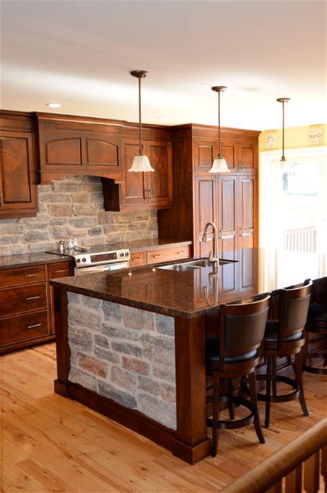 kitchen furniture stores toronto wormy maple kitchen w stone rustic kitchen toronto by brice s furniture