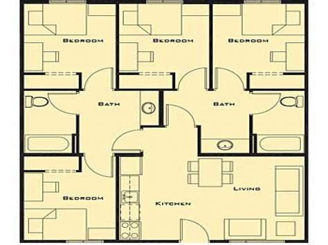 small  bedroom house plans smallest  bedroom house
