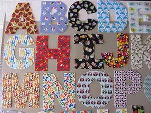 Fabric letters a z hand cut fabric alphabet letters for Fabric letter templates