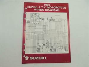 Vintage 1989 Suzuki Atv Motorcycle Wiring Diagrams Manual