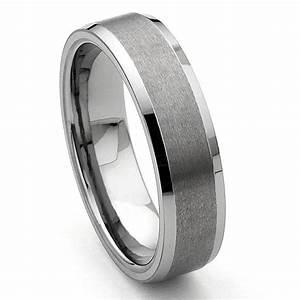 CORSAL Tungsten Carbide Satin Men39s Wedding Ring