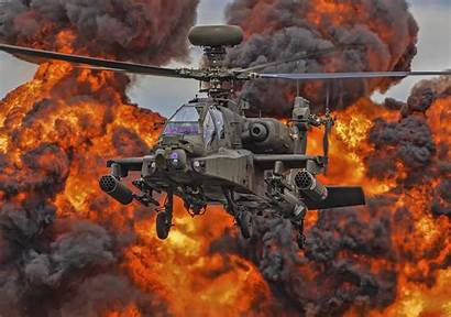 Apache Helicopter Ah 4k 64 Military Fire