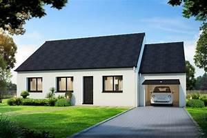 Maison Plain Pied En L : plan maison de plain pied avec 3 chambres villadagio 80 m ~ Melissatoandfro.com Idées de Décoration