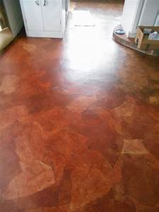 living designs a paper bag floor over asbestos linoleum With paperbag floor