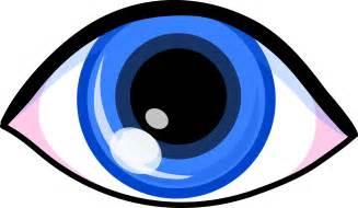 Blue Cartoon Eyes Clip Art