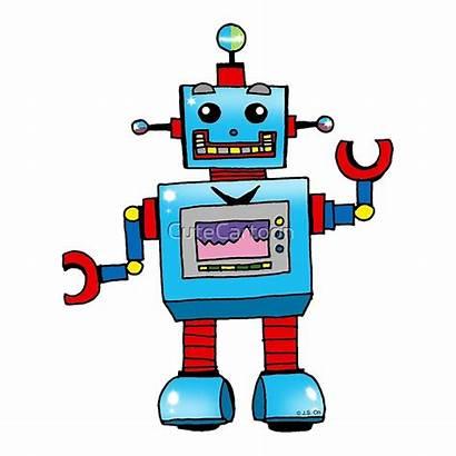 Cartoon Robot Toy Robots Fun Redbubble