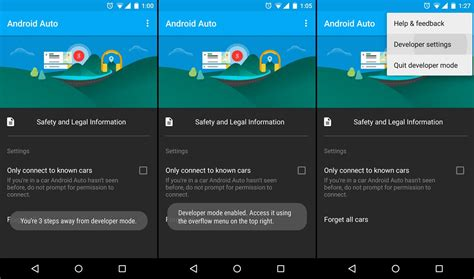 how to enable developer mode on android auto the android