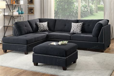 furniture sectional couches black fabric sectional sofa and ottoman a sofa