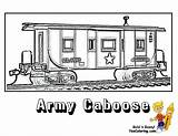 Coloring Train Pages Caboose Army Template Trains Yescoloring Printable Colouring Ironhorse Military Sheets Print Adult Boys Books Halloween sketch template
