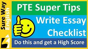 PTE Tips Write Essay Check List for a High Score - YouTube