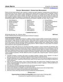 Sample Project Manager Resume Example