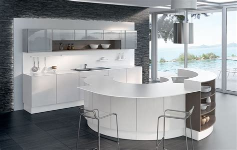 photo de cuisine design cuisine arrondie