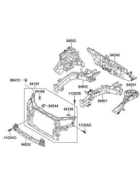 2011 Kia Sorento Fender Apron & Radiator Support Panel