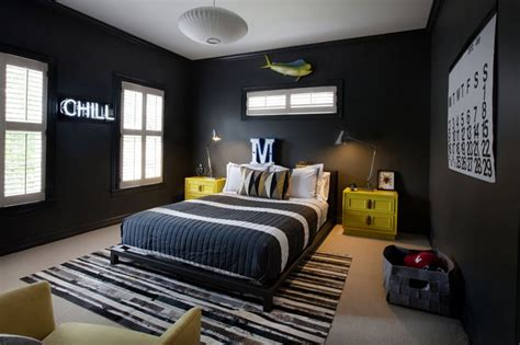 black walls  teenage boy room home decorating trends