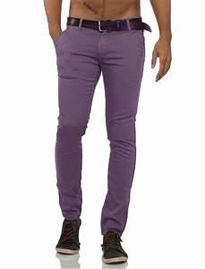 Pantalon Décontracté Homme : pantalon chino homme violet pas cher ~ Carolinahurricanesstore.com Idées de Décoration