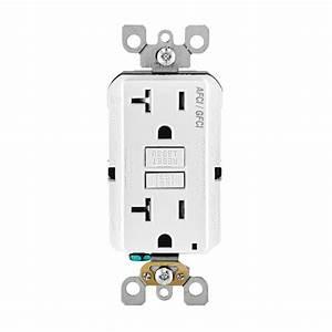 Leviton 20 Amp 125 Gfci Dual Function Outlet