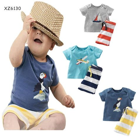 sleeve set 2t to 7t navy summer pajamas for boys clothing