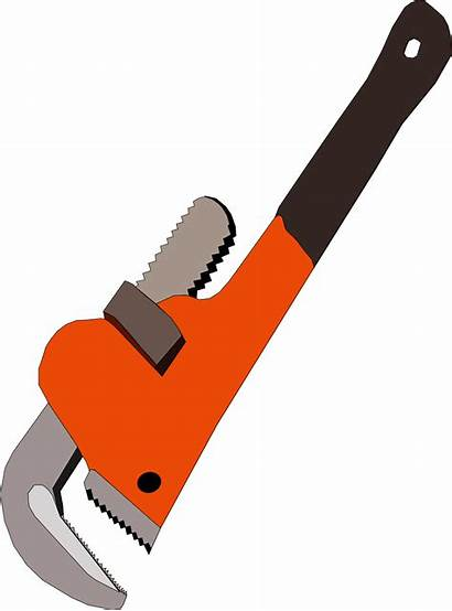 Wrench Pipe Clipart Clip Plumbing Vector Svg