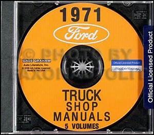 1971 Ford Truck Shop Manual Set Cd Pickup Van Bronco F100