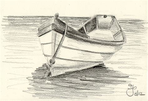 Boat Drawing By Pencil by Boat On Water 4x6 Pencil Study Study Boats And
