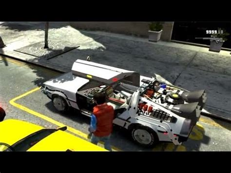 Gta Iv How To Get Back To The Future Car  (gta Iv Back