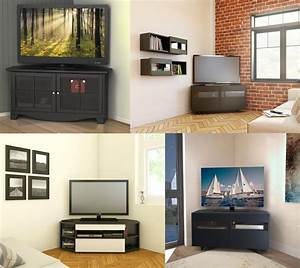 Meuble Tv En Coin : meuble en coin tv meuble tele avec rangement trendsetter ~ Farleysfitness.com Idées de Décoration