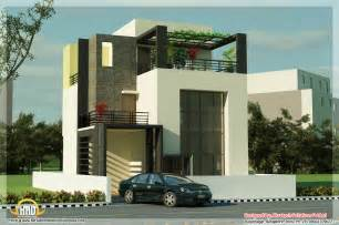 contemporary house floor plans 5 beautiful modern contemporary house 3d renderings kerala home design and floor plans