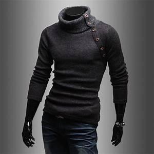 Fashion Men's Autumn Turtleneck Pullover Sweater Slim Fit ...