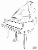 Piano Coloring Grand Pages Drawing Draw Printable sketch template