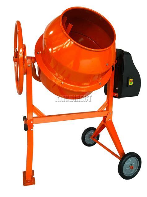foxhunter 650w 140l drum portable electric concrete cement mixer mortar plaster