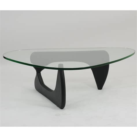 Lovely long coffee table design. Modway Triangle Black Wood Glass Top Coffee Table at Hayneedle