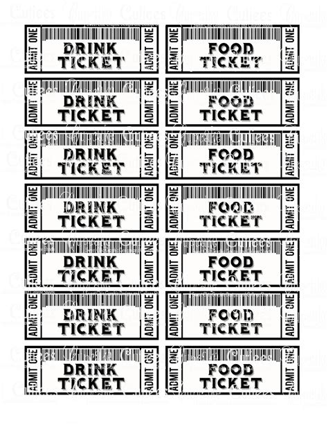 solution cuisine 8 best images of food ticket template meal ticket template