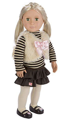Our Generation Holly 18 Inch Doll with Tights, Frilly