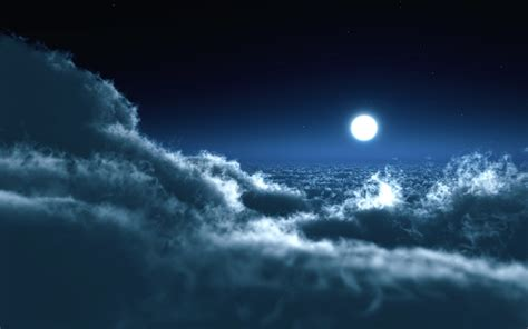 Moon And Clouds Wallpaper by Moon Clouds Wallpapers Hd Wallpapers Id 9042